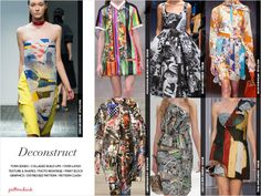 Cut-Out & Placed /Geometric Structures / Deconstruct / Brushed & Scribbled  Catwalk Print & Pattern Trend Report Spring/Summer 2015 | Patternbank