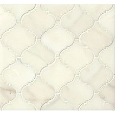 Honed Marble Arabesque Mosaic Tile in Calacatta Oro Stone Mosaic Tile, Marble Mosaic, Mosaic Tiles, Wall Tiles, Honed Marble, Marble Floor, Carrara, Arabesque Tile, Arabesque Pattern