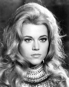 Jane Fonda - Barbarella Hollywood Icons, Hollywood Glamour, Classic Hollywood, Old Hollywood, Jane Seymour, Classic Actresses, Actors & Actresses, Jane Fonda Barbarella, Barbarella Movie