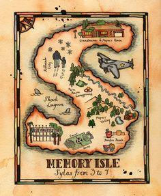RESERVED - Custom Treasure Map by paintandink on Etsy