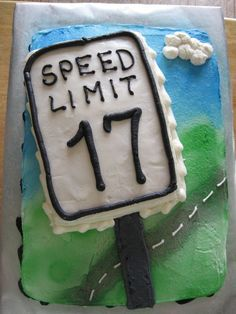 17th Birthday Cake For Teenager With Driving License Beth J Noel