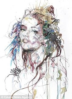 Kai Fine Art is an art website, shows painting and illustration works all over the world. Art And Illustration, Creative Illustration, Art Alevel, Black And White Posters, Drip Painting, Watercolor Paintings, Color Me Beautiful, Art For Art Sake, Portrait Art