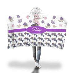Purple Mermaid with Comb Hooded Blanket – Designing on Wine Hooded Blanket, Miniature Dolls, The Little Mermaid, Little Ones, Blankets, Hoods, Purple, Wine, Design