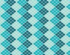 Indie Checkers in Blue  by My Minds Eye for Riley Blake Fabrics One Yard Cut