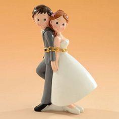 Cake topper sposi in catene