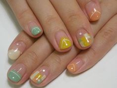 To know more about atelier+LIM hand nail, visit Sumally, a social network that gathers together all the wanted things in the world! Featuring over other atelier+LIM items too! Love Nails, Pretty Nails, Natural Nail Art, Abstract Nail Art, Japanese Nail Art, Manicure Y Pedicure, Green Nails, Stylish Nails, Easy Nail Art