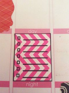 25 Chevron pattern check list stickers for your by KraftingKorners, $5.00