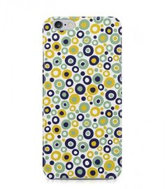 Yellow and Blue Round Abstract Seamless 3D Iphone Case for Iphone 3G/4/4g/4s/5/5s/6/6s/6s Plus - ABSTSEAM0143 - FavCases