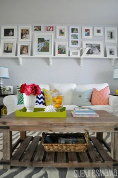 Love this home and all it's fun and colorful decor Suburbs Mama: Our Home