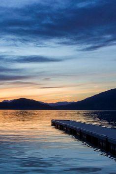 noizzex:  Sunset Whitefish Lake | Lynda McKay