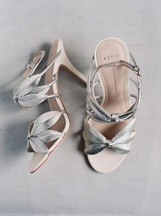 Dreamy Mountainside Wedding Inspiration - romantic leaf inspired wedding shoes for an old hollywood wedding