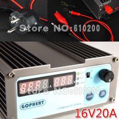 94.99$  Buy here - http://alihql.worldwells.pw/go.php?t=1764149782 - Free shipping NEWprecision Compact Digital Adjustable low power DC Power Supply OVP/OCP/OTP 110V/230V 16V/20A MCU control EU