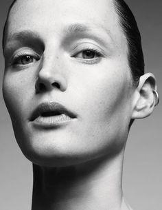 Vivien wears earrings stylist's studio.  Vivien Solari, 37, modeling for 19 years  photography amy troost