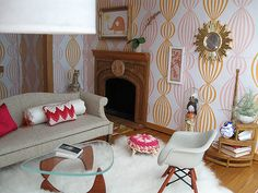 dollhouse 49 | Flickr - Photo Sharing!  I love the miniature Eames chair and the Noguchi table.