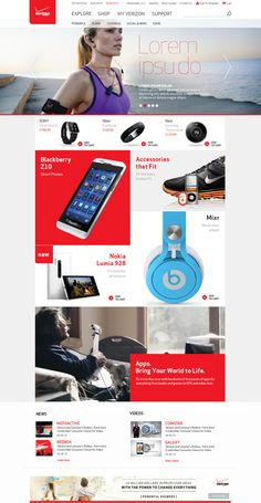 Verizon Digital Collection on Web Design Served - could work as an email layout as well