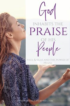 God inhabits the praise of His people. Learn from Paul and Silas how you can experience the joy in the power of praise despite your circumstances! Christian Women, Christian Living, Christian Faith, Praise And Worship, Praise God, Book Of Philippians, Joy Of The Lord, Seeking God, Bible Lessons