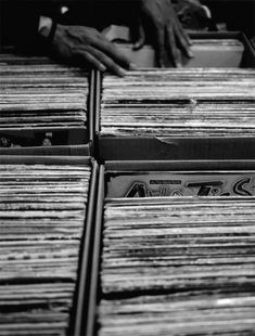 There's something great about flipping through a stack of records.