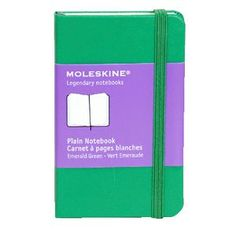 Moleskine Classic Hard Cover Plain XSmall Notebook - Green I always want more Moleskines! Plain Notebook, My Workspace, Moleskine, To Focus, Workplace, Stationery, Paper, Classic, Green