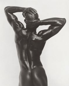 Photographs by Herb Ritts  Djimon Three-Quarter Nude, Back View, Hollywood, 1989.    Actor and model Djimon Hounsou in Hollywood.
