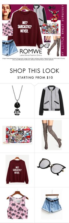 """""""#mY LITTLE SWEAT BURGUNDY"""" by dominique-boiche ❤ liked on Polyvore featuring Chanel, Marc Jacobs, romwe, polyvorecommunity, polyvorecontest, polyvorefashion and BYSISKA2016"""