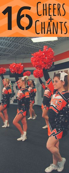6 Cheers + 10 Chants for cheerleading squad. Great new ideas for tryouts! Cheer … 6 Cheers + 10 Chants for cheerleading squad. Great new ideas for tryouts! Cheer Camp, Football Cheer, Cheer Coaches, Team Chants, Cheerleading Tryouts, Cheers For Cheerleading, Cheers And Chants, Gymnastics Camp, Cheer Routines