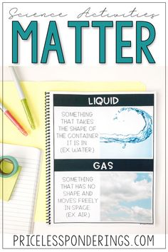 Teaching Second Grade properties of matter in science? Grab fun hands on activities, experiments, and worksheets for states of matter that your students will love. Matter Activities, Hands On Activities, Science Activities, Vocabulary Word Walls, Vocabulary Cards, 3 States Of Matter, Matter Worksheets, Properties Of Matter, Teaching Second Grade