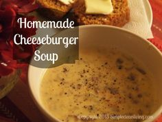 Homemade Cheeseburger Soup - I make a yummy version with Velveta but am looking forward to trying this version with cheddar