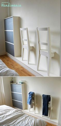 Best of recycling - 75 upcycling ideas that will inspire you - Page 4 of 4 - Decorative milk- Best of Wiederverwertung – 75 Upcycling Ideen die Dich begeistern werden – Seite 4 von 4 – Dekomilch Honestly, who doesn& want … - Diy Furniture, Furniture Design, Bedroom Furniture, Diy Home Decor, Room Decor, Diy Casa, Ikea Hackers, Bedroom Chair, Ikea Bedroom