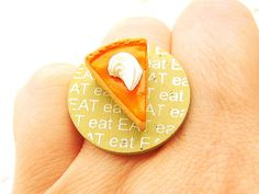 Kawaii Ring Miniature Food Jewelry Eat by SouZouCreations on Etsy, $12.50