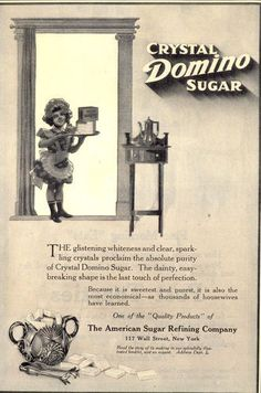 1913 Ads Domino Sugar Color Girl Doll Sugar Refinery Factory