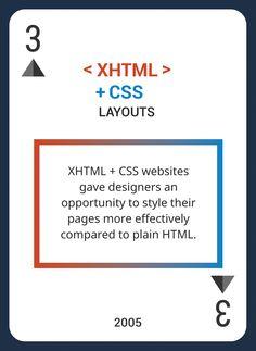 Custom Card Deck! Discover Web Design Trends 2004-2014  https://www.pinterest.com/templatemonster/win-the-web-design-trends-cards/  #webdesign  #XHTML #CSS