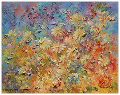 Meadow, 50x40cm, acrylic, canvas, for sale
