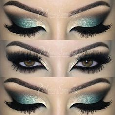Gorgeous Makeup: Tips and Tricks With Eye Makeup and Eyeshadow – Makeup Design Ideas Beautiful Eye Makeup, Love Makeup, Makeup Inspo, Makeup Art, Makeup Inspiration, Beauty Makeup, Teal Makeup, Makeup Style, Makeup Drawing