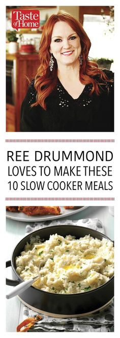 10 Slow Cooker Meals Inspired by Ree Drummond - Slow Cooking Slow Cooker Huhn, Crock Pot Slow Cooker, Slow Cooker Chicken, Slow Cooker Recipes, Crockpot Recipes, Cooking Recipes, Dishes Recipes, Recipies, Easy Recipes