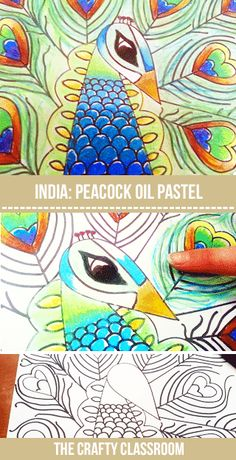 The peacock is the National bird of India. It's certainly one of God's most beautiful creatures, and even young children can make these…