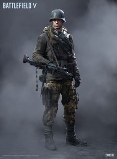 "ArtStation - ""Battlefield V"" - Axis Support, MP Soldier - Concept Art, Per Haagensen"
