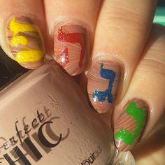 Hanukkah nail art part 2, dreidel inspired nails!  #hanukkahnails #happyhanukkah #hanukkah #chanukah #dreidel #nails #nailart #nailartpromote #nails2inspire #nailsnailsnails #jewishstyle #hebrew #nailartclub #nailpolishjunkie #nailpolishaddicts #notd #חנוכה #חנוכהשמח #לק #סביבון