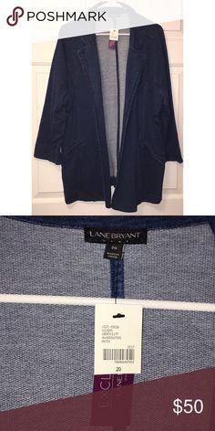 Lane Bryant Blazer NWT. Never worn. Lane Bryant Denim blazer. Has stretch to it. Excellent condition. Size 20. Lane Bryant Jackets & Coats Blazers