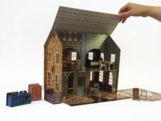 Image of Emily's Dollhouse with all accessories (1/2 scale) Currently sold out...but isn't it just darling?