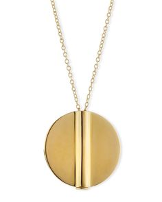 Elizabeth and James  Tate Round Pendant Necklace, Gold