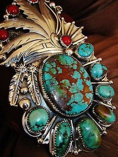 NATIVE-AMERICAN-TURQUOISE-LEATHER-BRACELET-106gr-Sterling-Silver-CHAVEZ-4-3-wide