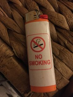 Ironic lighters no smoking lighter by ChloesCoolCustoms on Etsy