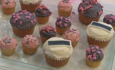 Our very own delicious cupcakes Delicious Cupcakes, Desserts, Pink, Food, Tailgate Desserts, Deserts, Yummy Cupcakes, Hot Pink, Essen