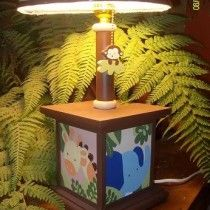 Jungle lamp for kids room decor Kids Lamps, Nursery Room, Safari, Kids Room, Table Lamp, Room Decor, Home, Toddler Table, Animals Of The Rainforest