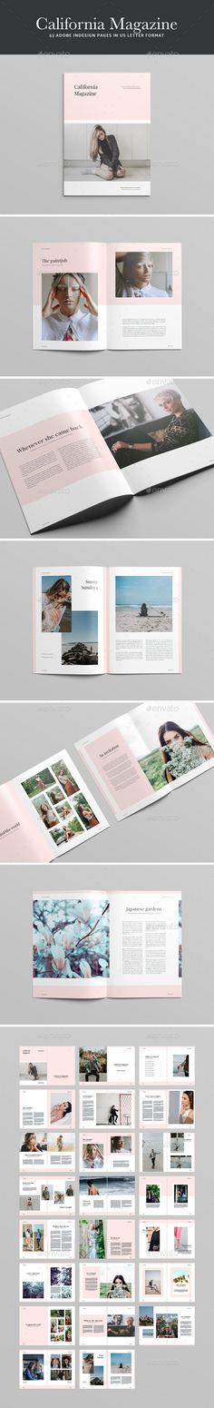 California Magazine — InDesign INDD #template #us letter • Available here ➝ https://graphicriver.net/item/california-magazine/20626063?ref=pxcr