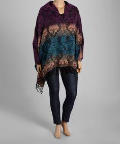 Purple & Blue Dip-Dye Shawl - Women & Plus #zulily #zulilyfinds