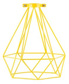 Yellow Wire Geometric Lamp Shade - General Eclectic - General Eclectic