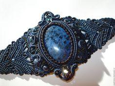 Купить Браслет с дьюмортьеритом - синий, дьюмортьерит, украшения ручной работы, браслет, Браслет ручной работы
