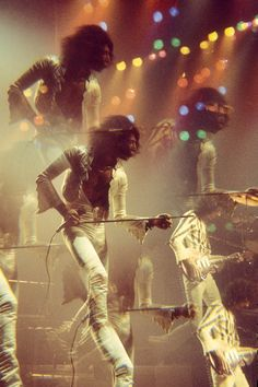 Queen: Freddie Mercury and Brian May at London's Hammersmith Odeon, 1975,   by Martyn Goddard, via