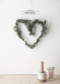 DIY | Eucalyptus Heart Wreath - Earnest Home co.